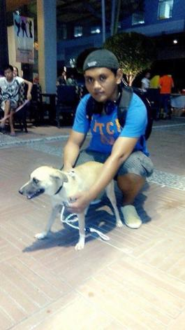 A Kingdom For Hope at Centris Walk-Quezon City. Apr. 27, 2014. AKF's rescued dog adopted by Andre of Manila