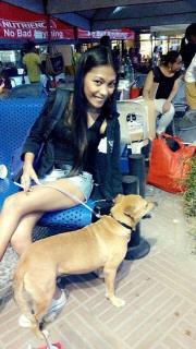 A Kingdom For Hope at Centris Walk-Quezon City. Apr. 27, 2014. AKF's rescued dog adopted by Ma. Luisa of Quezon City