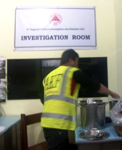 AKF staff securing the evidences